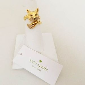 KATE SPADE So Foxy Ring in Size 7 NWT